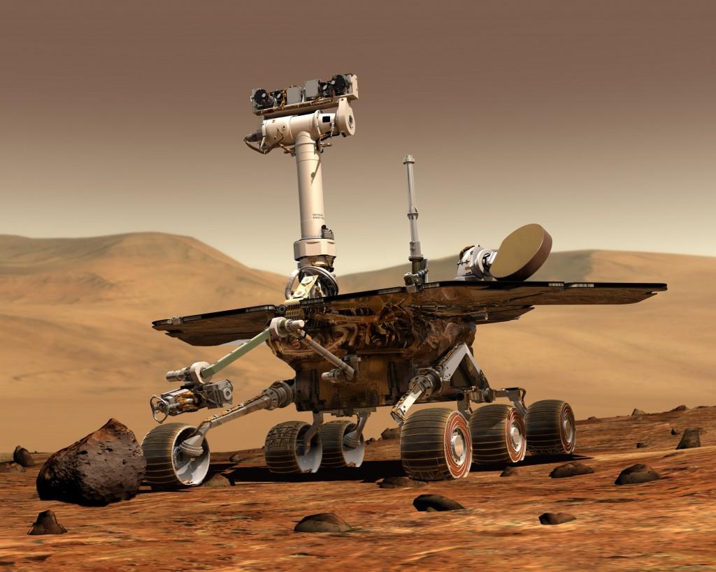 Robot NASA Opportunity/Spirit na prieskum marsu (foto: NASA)