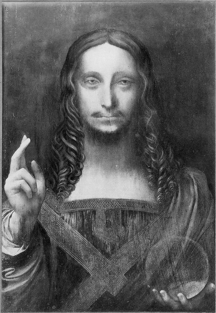 800px-Leonardo_da_Vinci,_Salvator_Mundi_before_restoration_(black_and_white),_Cook_Collection