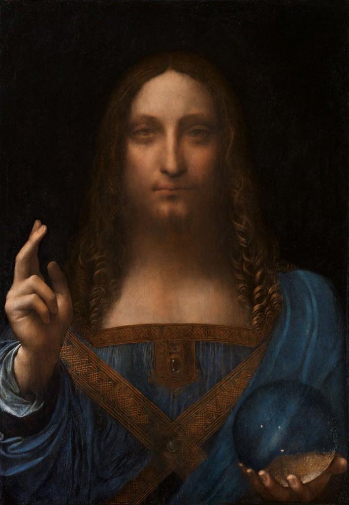 Salvator Mundi od Leonarda da Vinciho, vytvorený okolo rokov 1490 až 1500. Aktuálna hodnota obrazu je 450 miliónov USD!