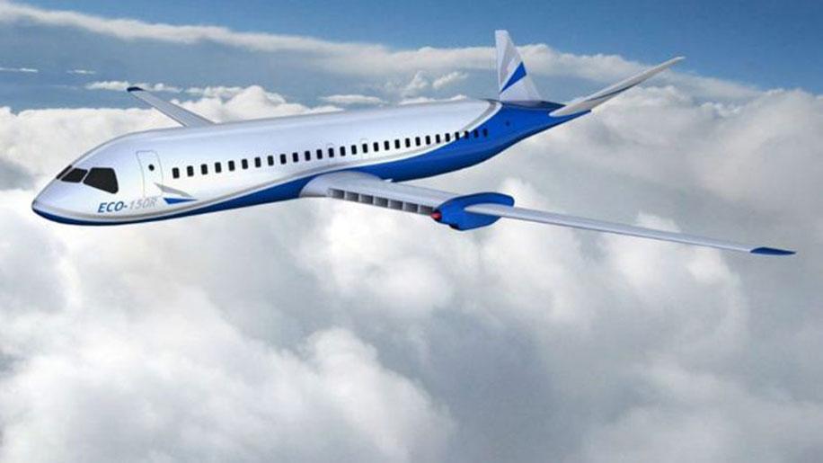 Vizualizácia dopravného lietadla na elektrinu od spoločnosti Wright.