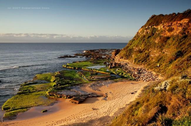 Austrálska pláž Turimetta pri Sydney (foto: bigpicture.ru)