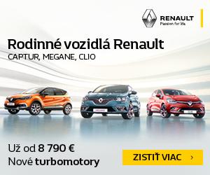 Inzercia: Rodinné vozidlá Renault