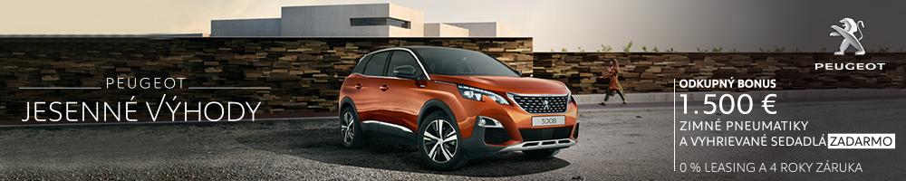 INZERCIA: Peugeot Jesenné výhody