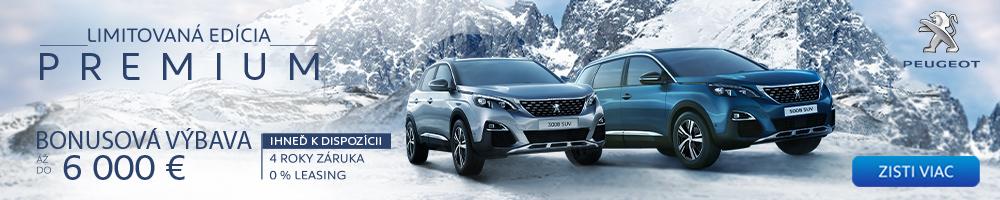 INZERCIA: Peugeot Limitovaná edícia PREMIUM
