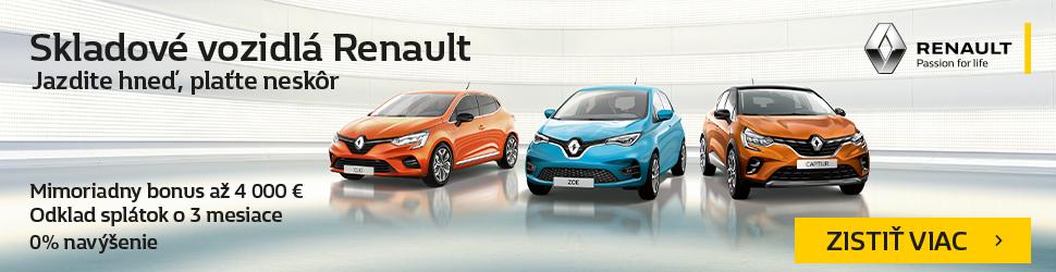 INZERCIA: Skladové vozidlá Renault