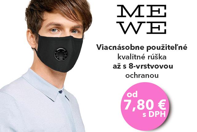 INZERCIA: Ochranné rúška s filtrom MeWe