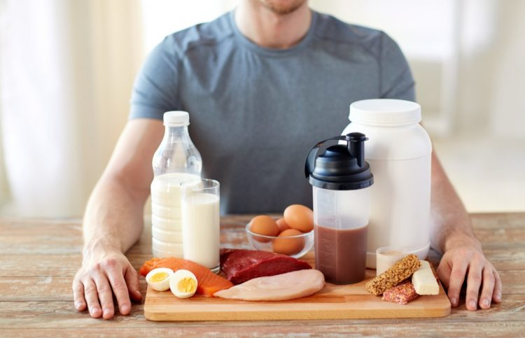 jedlo na svaly