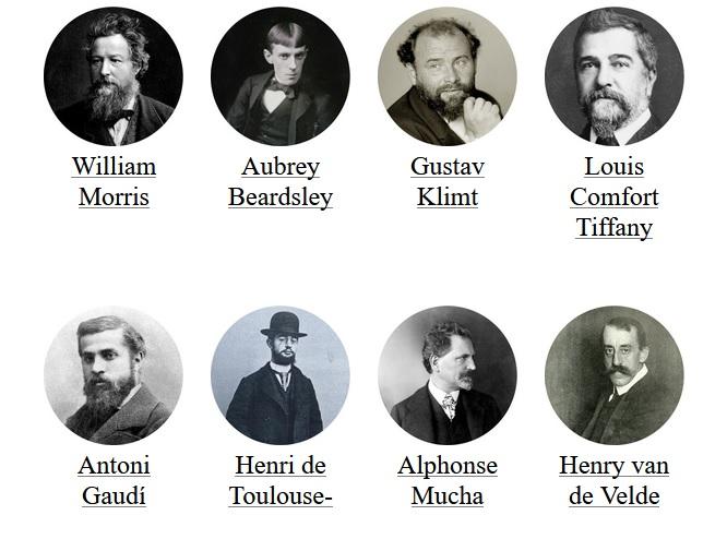 najznámejší umelci secesie