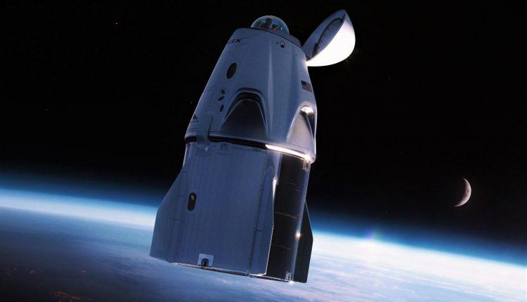 Kupola v hornej časti kapsuly Crew Dragon [SpaceX]