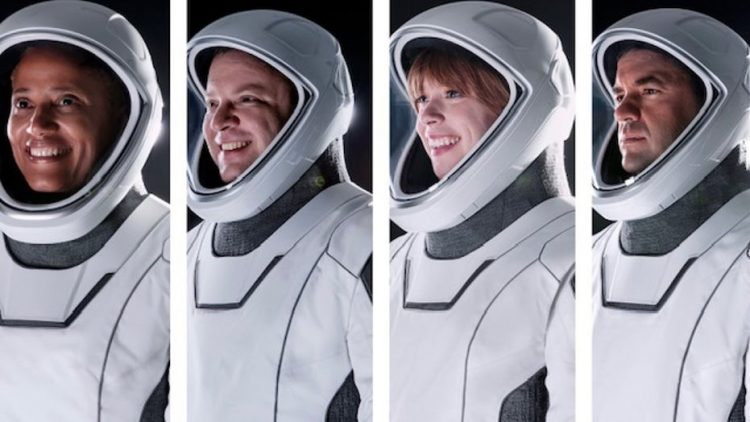 Členovia misie Inspiration4 [SpaceX]